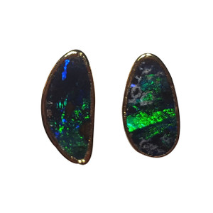 ELECTRIC FANTASY 18kt GOLD PLATED OPAL EARRINGS