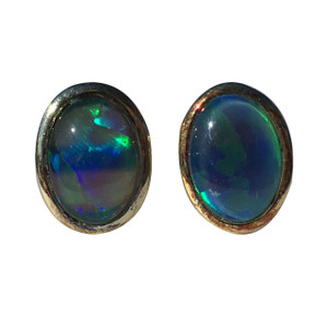 NATURES LIGHT 18KT GOLD PLATED OPAL EARRINGS