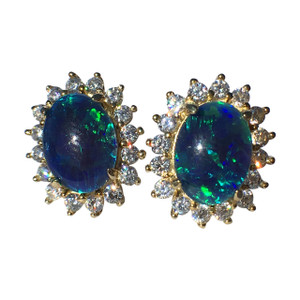 ROYAL ROMANCE 18KT GOLD PLATED OPAL EARRINGS