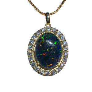 CROWN PRINCESS 18KT GOLD PLATED OPAL NECKLACE