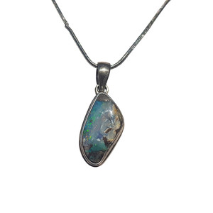 WHITE RIVER RUSH STERLING SILVER OPAL NECKLACE