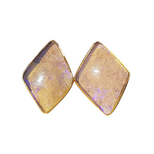 PASTEL PURPLE 18kt GOLD PLATED OPAL EARRINGS