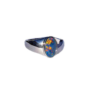 SUNSHINE DESIRE STERLING SILVER OPAL RING