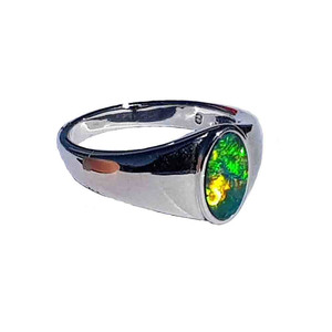 GREEN DREAM STERLING SILVER OPAL RING