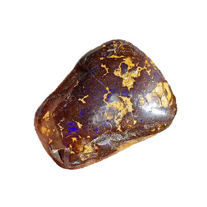 HIDE & SEEK BLUE FLASH BOULDER OPAL SPECIMEN