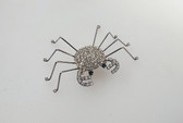 Adorable Vintage Rhinestone Spider Pin Elegant Legs Looks Like A Crab