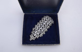 Art Deco Large EISENBERG ORIGINAL Fur Clip Pin Fabulous Open Back Stones In Box