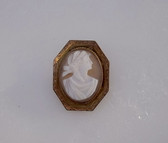 Victorian Cameo Brooch Carved Sardonyx Pin Greek Harvest Goddess
