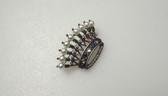 Trifari Sterling Alfred Philippe Royal Crown of Pearls Pin