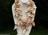 Statement RUNWAY COUTURE SEA SHELL NECKLACE Wired SHELLS AB Crystal BEADS LQQK