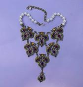 Spectacular Heidi Daus Beguiling Baroque Bib Necklace Wedding