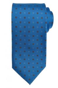 E. G. Cappelli Napoli Tie Silk 58 1/2 x 3 1/2 Blue Red Geometric 08TI0084