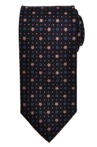 E. G. Cappelli Napoli Tie Silk 58 1/4 x 3 1/2 Blue Geometric 08TI0080