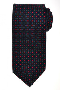 E. G. Cappelli Napoli Tie Silk 58 1/2 x 3 1/2 Blue Green Geometric 08TI0077