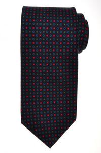E. G. Cappelli Napoli Tie Silk 58 1/4 x 3 1/2 Blue Green Geometric 08TI0078