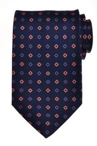 E. Marinella Napoli Tie Silk 57 3/4 x 3 5/8 Blue Pink Geometric 07TI0098
