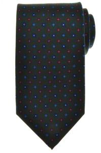 E. G. Cappelli Napoli Tie Silk 59 x 3 5/8 Green Blue Red Geometric 08TI0113