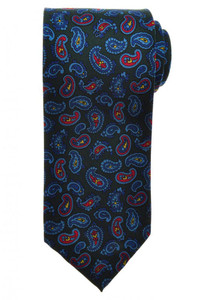 E. G. Cappelli Unlined Tie Silk 58 1/2 x 3 1/4 Green Blue Paisley 08TI0091