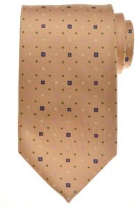 E. G. Cappelli Napoli Tie Silk 58 3/4 x 3 5/8 Brown Pink Geometric 08TI0120