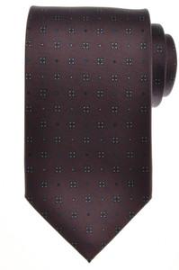 E. G. Cappelli Napoli Tie Silk 58 1/2 x 3 5/8 Gray Blue Geometric 08TI0128