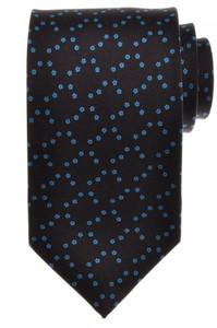 E. G. Cappelli Napoli Tie Silk 59 x 3 1/2 Blue Burgundy Geometric 08TI0125