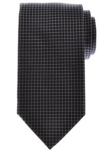 Battisti Napoli Tie Silk Wool 57 x 3 1/4 Navy Blue Gray Geometric 41TI0112