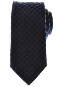 Battisti Napoli Tie Silk Wool 58 x 3 3/8 Blue Black Check 41TI0109