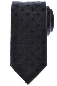 Battisti Napoli Tie Silk Wool 59 x 3 1/4 Blue Black Polka Dot 41TI0107