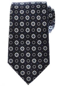 Ermenegildo Zegna Tie Silk 57 1/2 x 3 3/8 Blue White Geometric 10TI0141