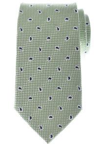 Ermenegildo Zegna Tie Silk 59 3/4 x 3 3/8 Green Blue White Paisley 10TI0161