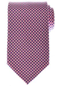 Ermenegildo Zegna Tie Silk 58 1/4 x 3 1/4 Pink Blue Geometric 10TI0151