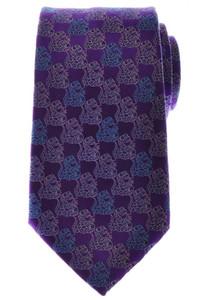 Ermenegildo Zegna Tie Silk 58 x 3 1/2 Purple Blue Geometric 10TI0178