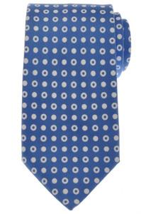 Ermenegildo Zegna Tie Silk 58 1/2 x 3 3/8 Blue White Geometric 10TI0168