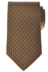 Gucci Tie Silk 57 1/2 x 3 1/4 Brown Geometric Print 19TI0152