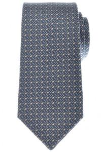 Gucci Tie Silk Woven 57 1/4 x 2 7/8 Blue Beige Geometric 19TI0148