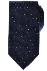 Battisti Napoli Tie Silk 58 1/2 x 3 1/8 Navy Blue White Polka Dot 41TI0134
