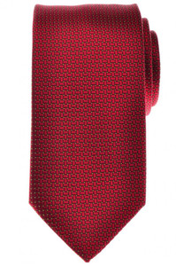 Battisti Napoli Tie Silk 58 1/2 x 3 1/8 Red Yellow Geometric 41TI0132