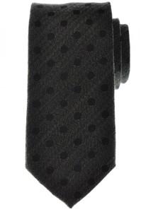 Battisti Napoli Tie Silk Wool 58 3/4 x 3 1/4 Green Black Polka Dot 41TI0156