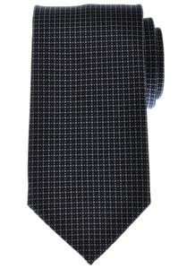 Battisti Napoli Tie Silk 57 3/4 x 3 1/4 Navy Blue Gray Geometric 41TI0154