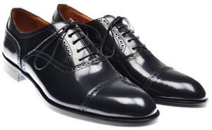 Sutor Mantellassi Brogue Captoe Oxford Shoes 10 UK 11 US Dk. Blue 46SO0102