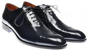 Sutor Mantellassi Spazzolato Captoe Shoes 10.5 UK 11.5 US Dk. Blue 46SO0101