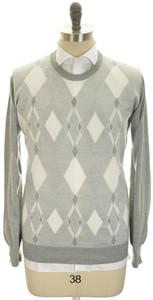 Brioni Sweater Crewneck Extrafine Cashmere Silk 58 XXXLarge Gray 03SW0162