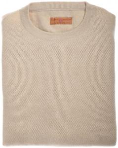 Luciano Barbera Sweater Crewneck Beluga Cashmere 50 Medium Brown 48SW0129