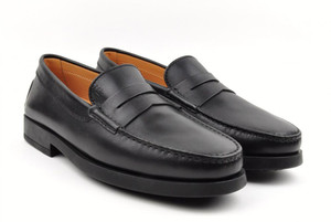 Tod's Shoes Leather Maine Mocassino Loafers 8 UK 9 US Black 31SO0106
