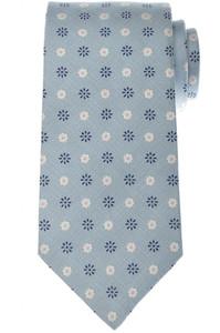 Luigi Borrelli Napoli Tie Silk 59 x 3 3/8 Blue White Geometric 05TI0349