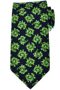 Luigi Borrelli Napoli Tie Silk 59 1/2 x 3 3/8 Blue Green Paisley 05TI0366