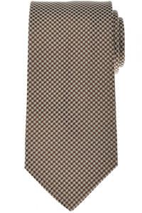 Luigi Borrelli Napoli Tie Silk 58 1/4 x 3 1/4 Brown White Check 05TI0372