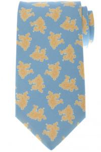 Luigi Borrelli Napoli Tie Silk 58 1/2 x 3 1/4 Blue Yellow Paisley 05TI0394