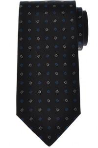 Luigi Borrelli Napoli Tie Silk 57 1/2 x 3 3/8 Blue White Geometric 05TI0402