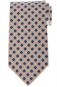 Luigi Borrelli Napoli Tie Silk 58 1/2 x 3 3/8 Blue Pink Geometric 05TI0417
